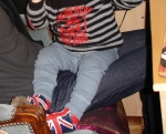 Luca with Union Jack shoes