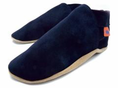 Average Joe Navy. Mens classic plain Navy suede slippers.