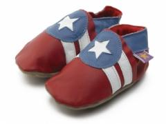 Americano captain America soft leather baby shoes
