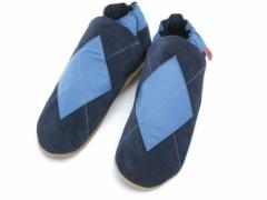 Argyle leather Triggerfish slippers