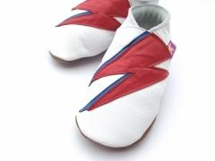 Bowie flash Starchild soft leather baby shoes