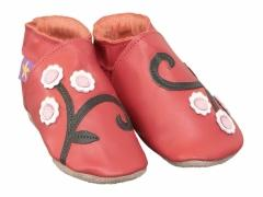 cherry blossom baby shoes in red