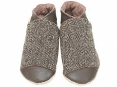 classic chocolate and tweed baby shoes