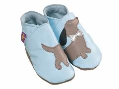Daxie Daschund sausage dog leather baby shoes