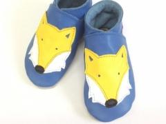 Foxes Blue Army fox blue baby shoes