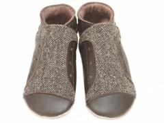 Junior Chocolate tweed baby shoes