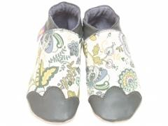 Mabelle grey Liberty baby shoes