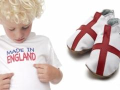 Made in England baby shoes t-shirt set