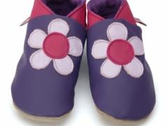 Poppy Purple Soft Leather Baby Shoes in Small Only