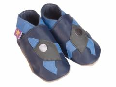rocket baby shoes on navy