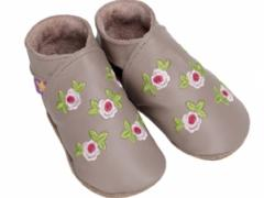rosa taupe baby shoes