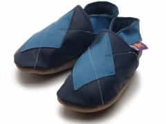 soft leather baby shoes Argyle in navy