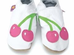 Soft leather baby shoes Blooming in sherbert with multi colour flowers.