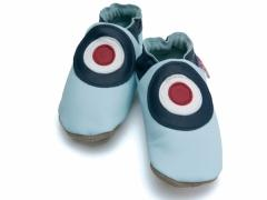 soft leather baby shoes MOD in baby blue