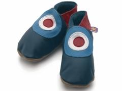 soft leather baby shoes MOD in navy