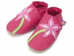 soft leather baby shoes stargazer in fuchsia