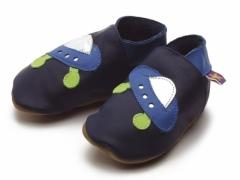 spaceship baby shoes navy