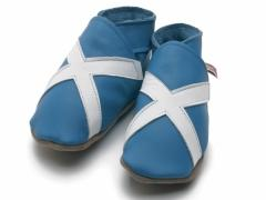 Starchild soft leather baby shoes Scotland Saltaire flag design