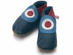 Starchild soft leather kids shoes, MOD in navy. RAF roundel design used by MOD bands in the 60s The Who, then in the 80s by The Jam.