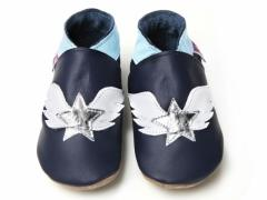 tattoo stars silver stars with wings on nacvy baby shoes