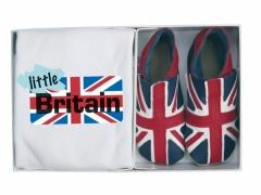 union jack flag baby shoes with matching T&45;shirt