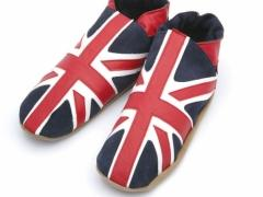 Union Jack mens leather slippers