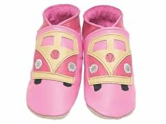 VW camper van soft leather baby shoes